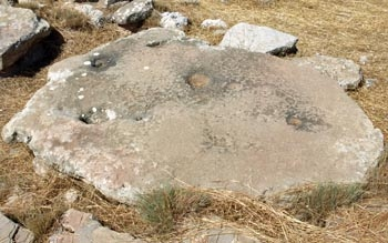 Gournia: Possible sacrifice stone